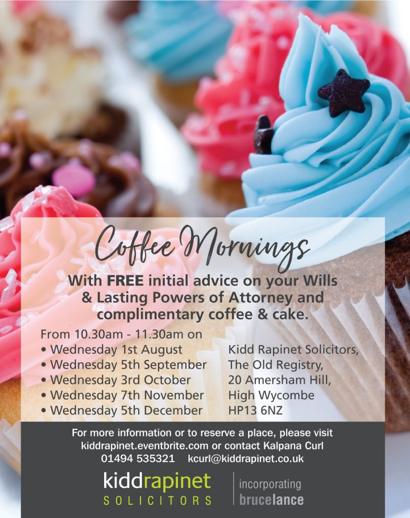 Free advice on Wills at our coffee morning