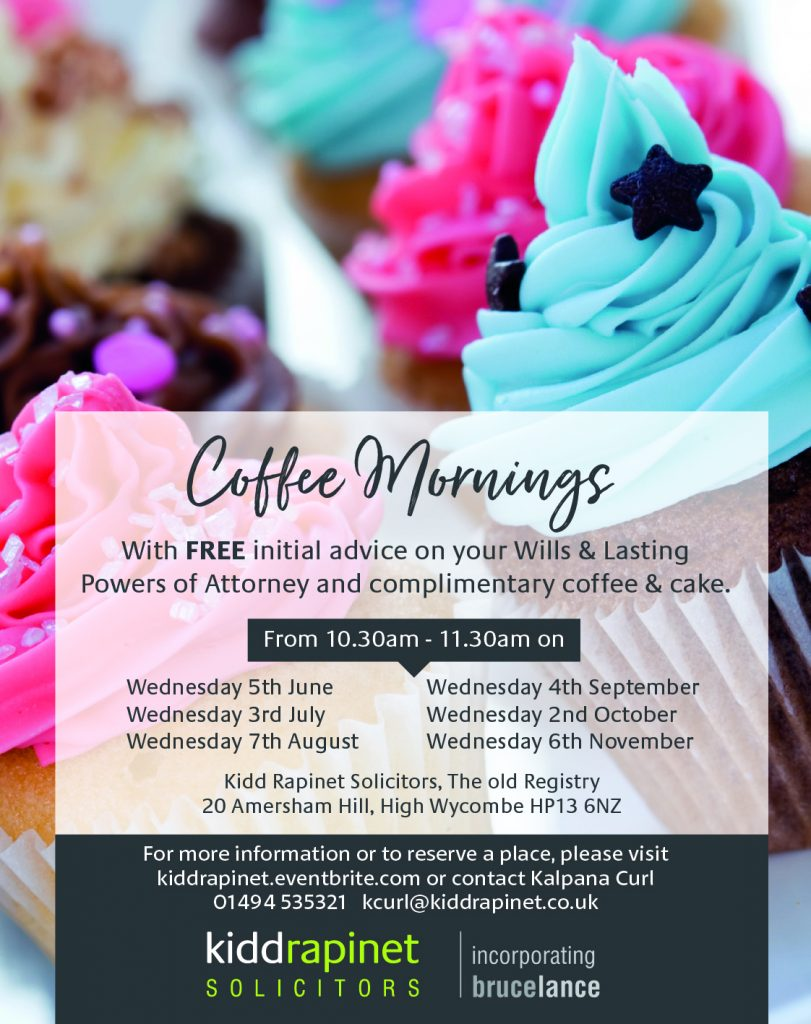 cup cake with coffee morning dates for Kidd Rapinet